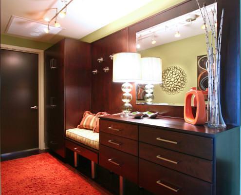 chrome feet,custom built furniture,retro look,coat rack,modern
